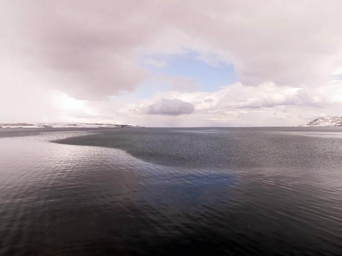 Lake Van in winter from Tatvan
